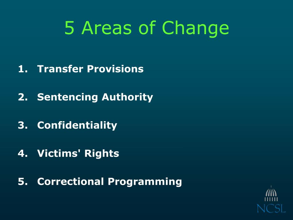 5 Areas of Change