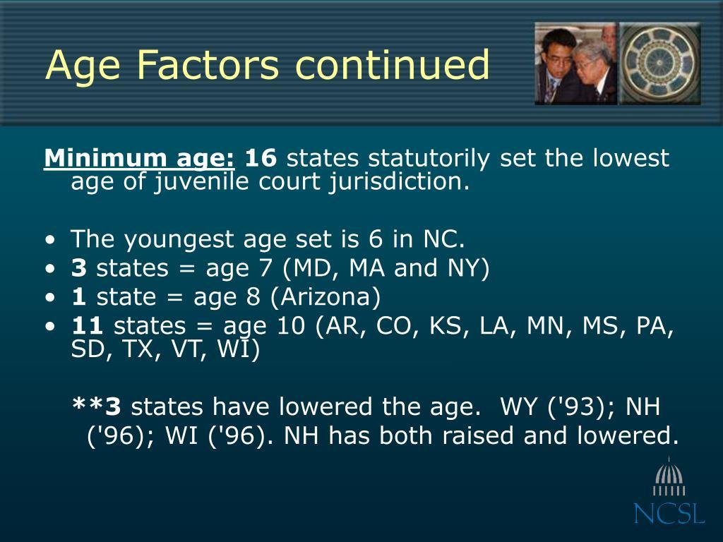 Age Factors continued