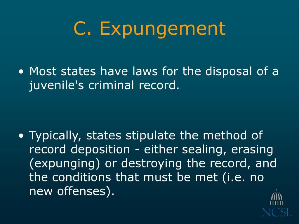 C. Expungement
