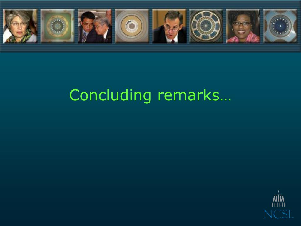 Concluding remarks…