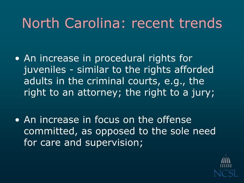 North Carolina: recent trends