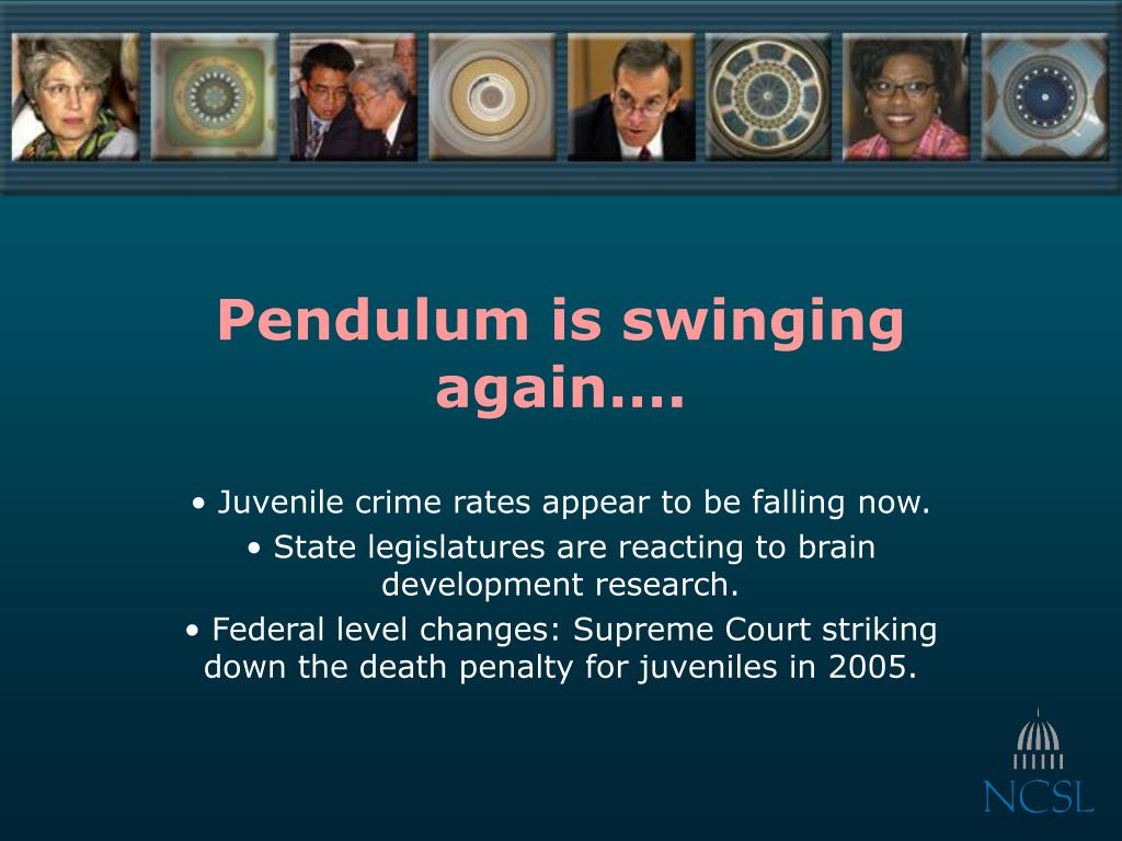 Pendulum is swinging again….