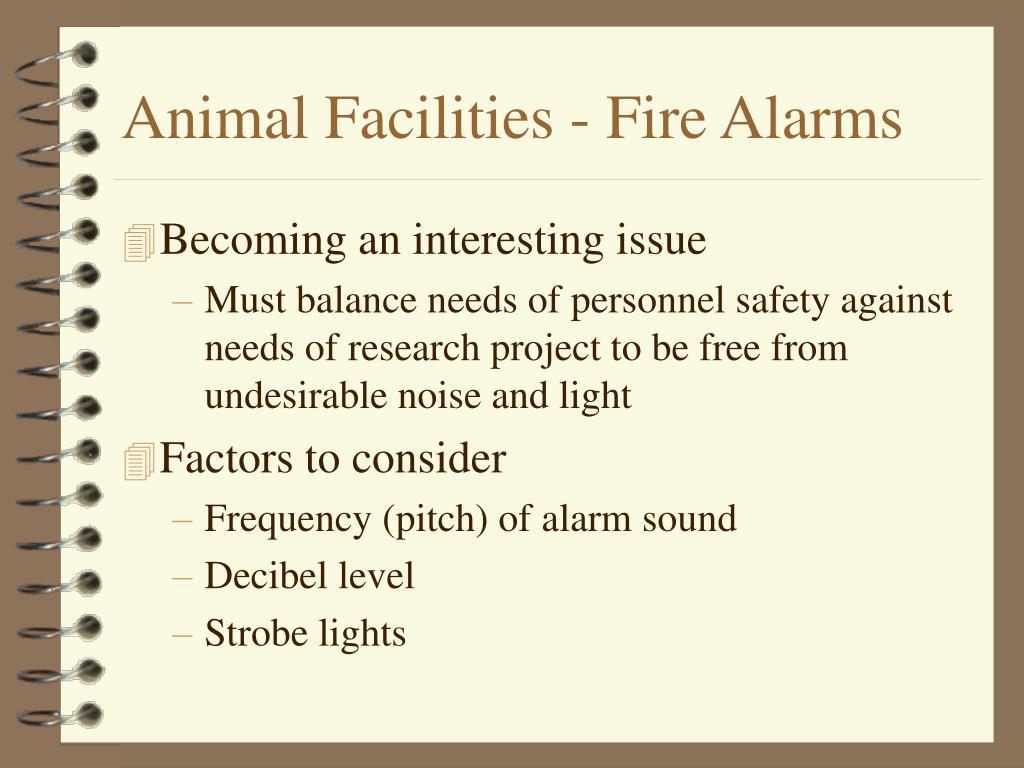 Animal Facilities - Fire Alarms