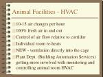 animal facilities hvac