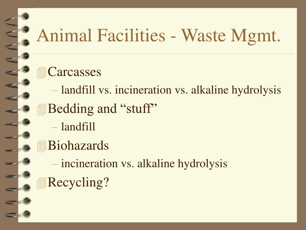 Animal Facilities - Waste Mgmt.