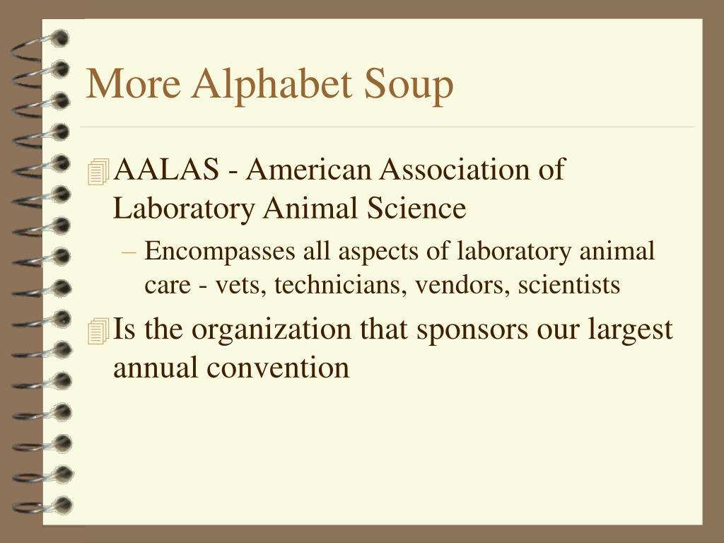 More Alphabet Soup