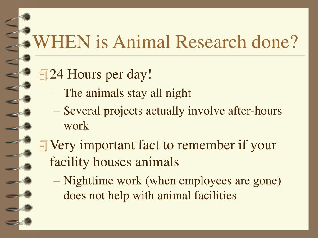 WHEN is Animal Research done?