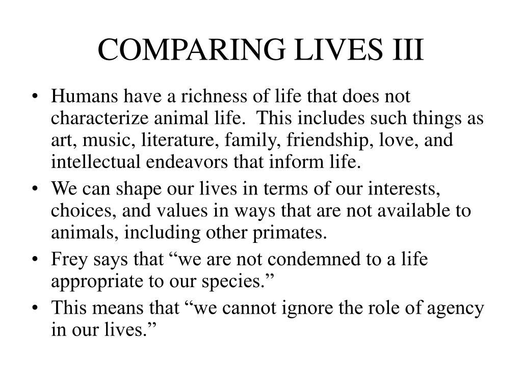 COMPARING LIVES III