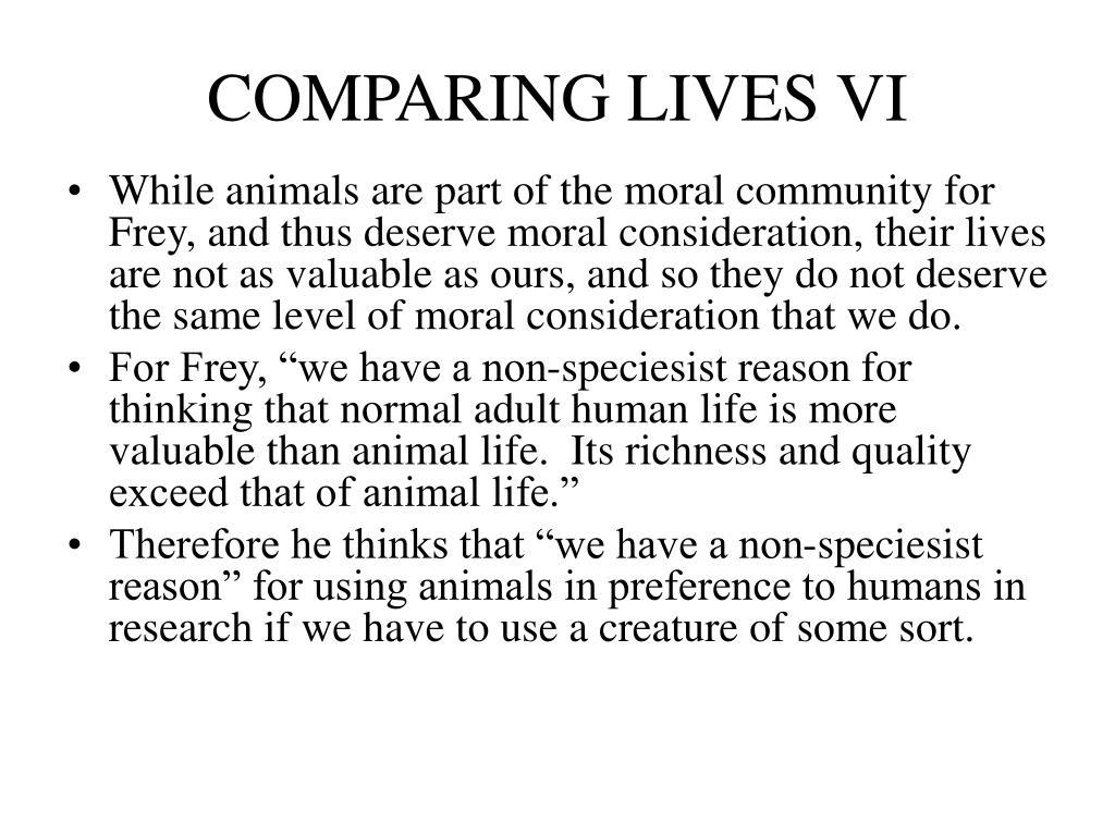 COMPARING LIVES VI