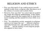 religion and ethics