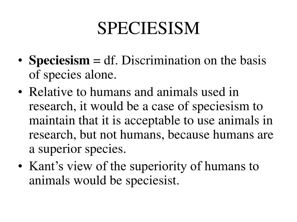 SPECIESISM