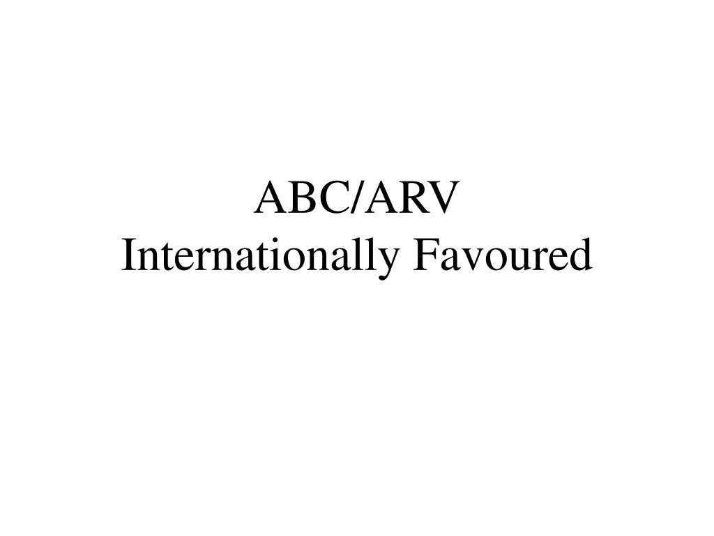 ABC/ARV