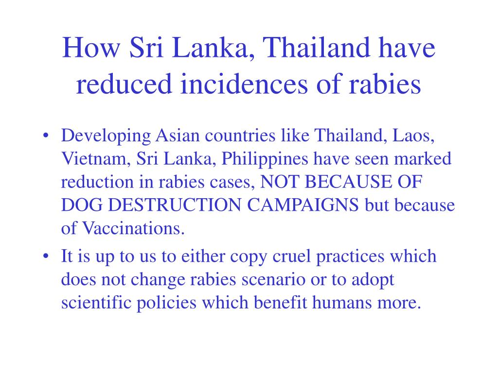 How Sri Lanka, Thailand have reduced incidences of rabies