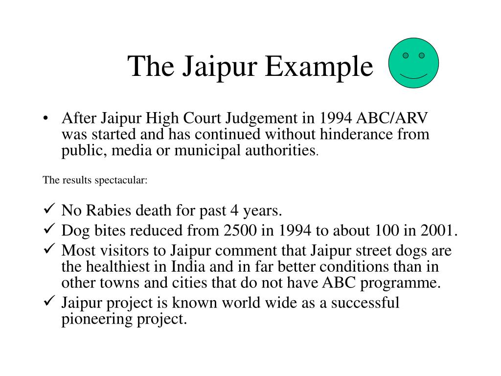 The Jaipur Example