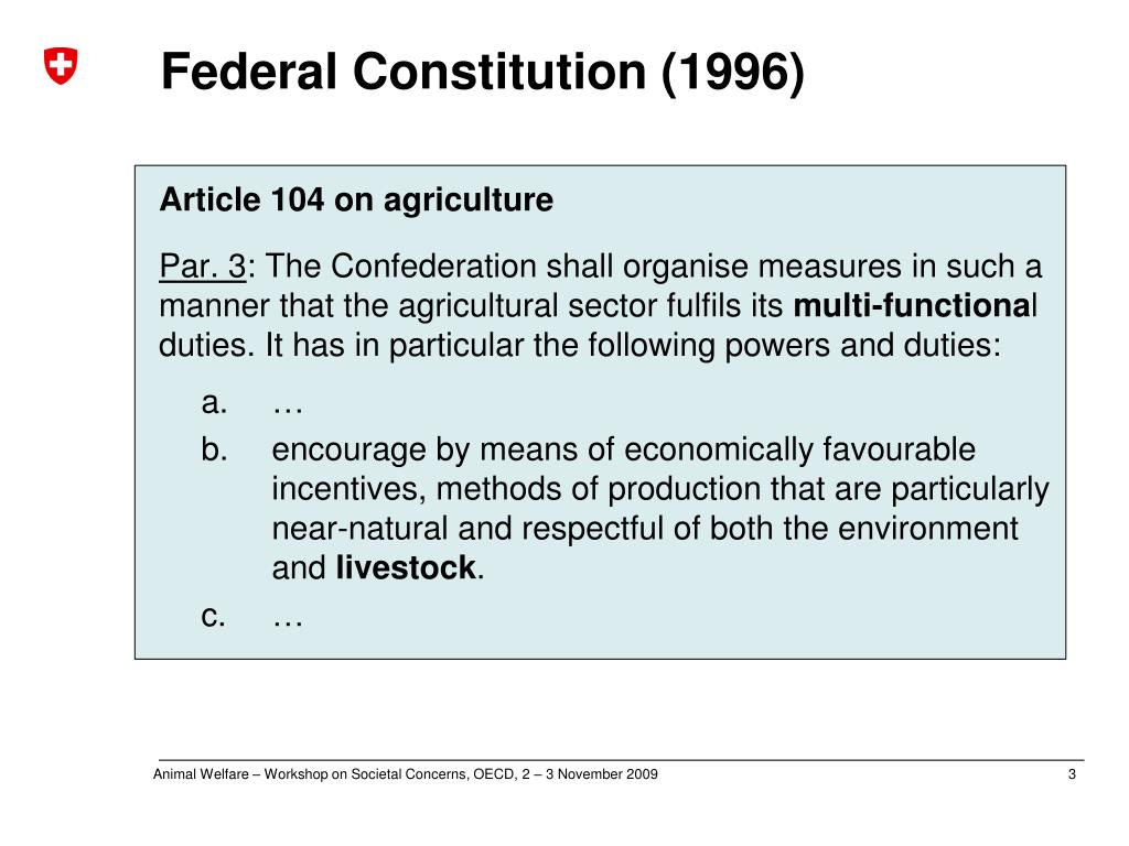 Federal Constitution (1996)