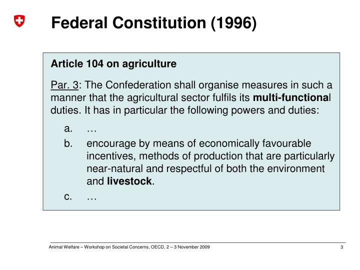 Federal constitution 1996
