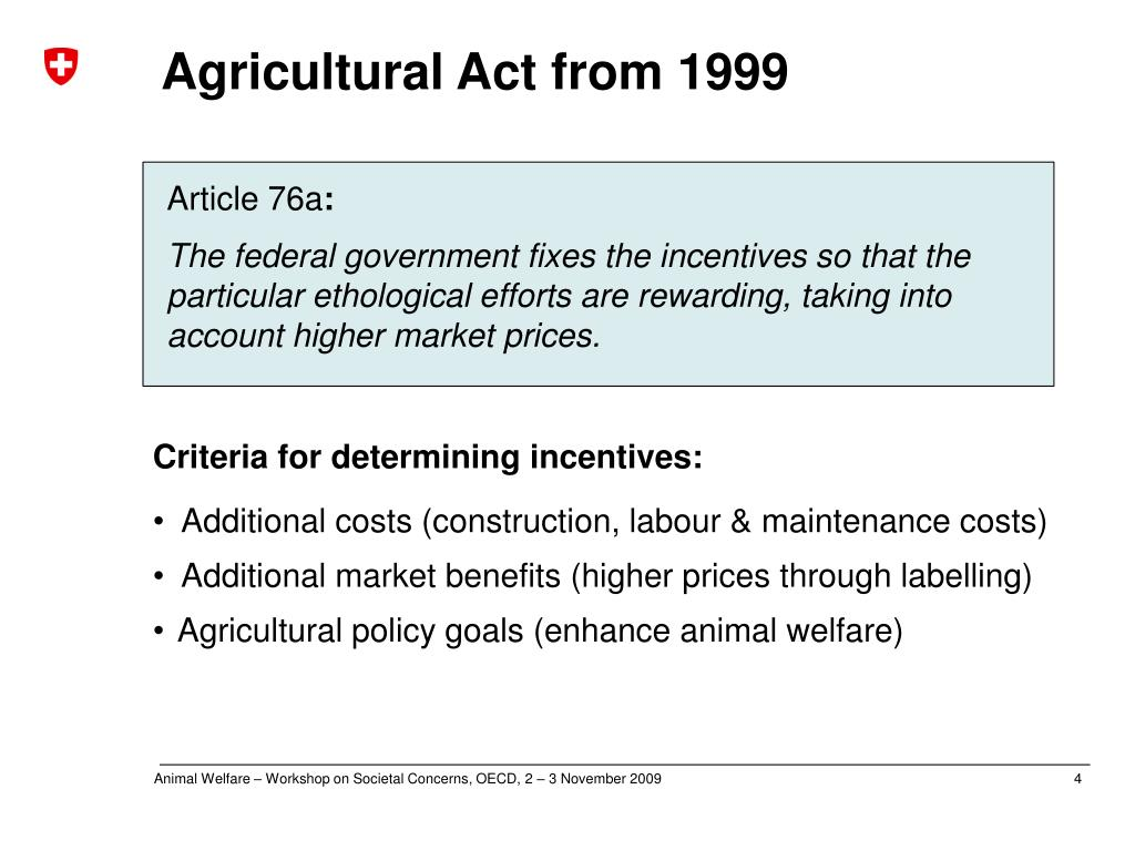 Agricultural Act from 1999