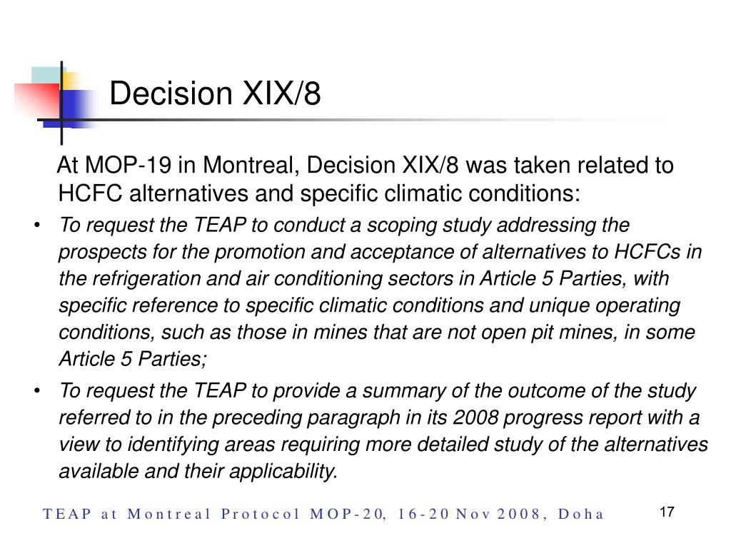 Decision XIX/8