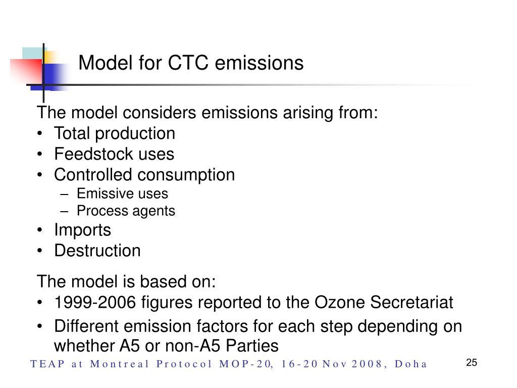 Model for CTC emissions