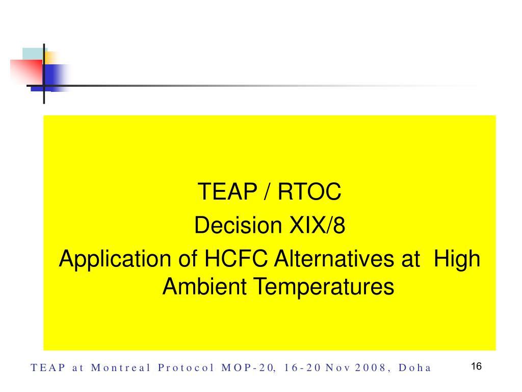 TEAP / RTOC