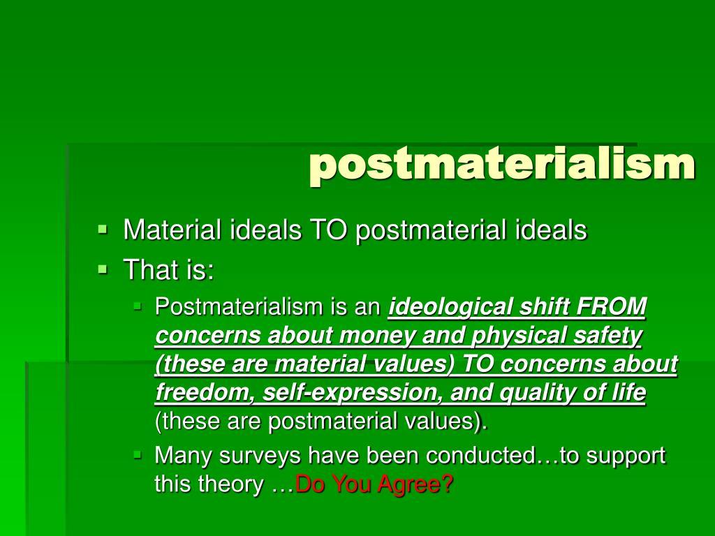 postmaterialism