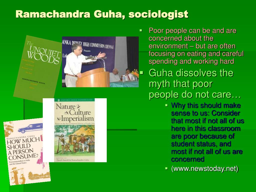 Ramachandra Guha, sociologist