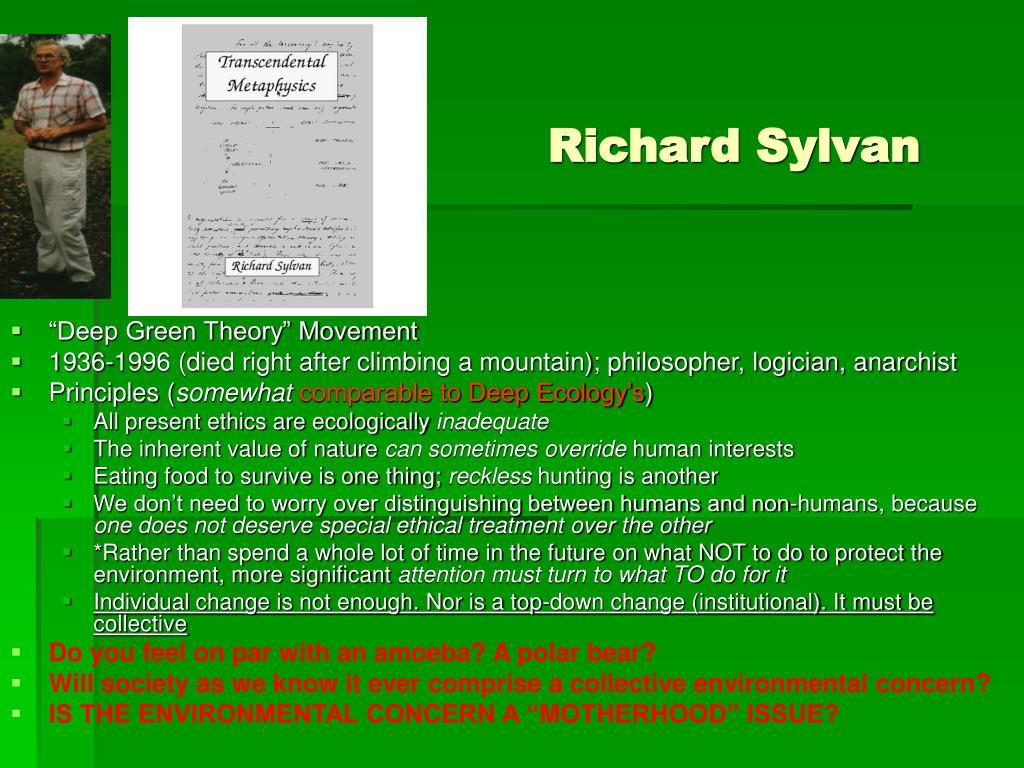 Richard Sylvan