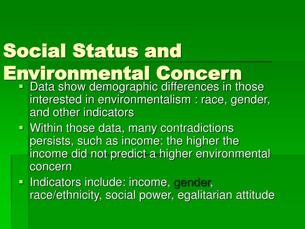 Social Status and Environmental Concern