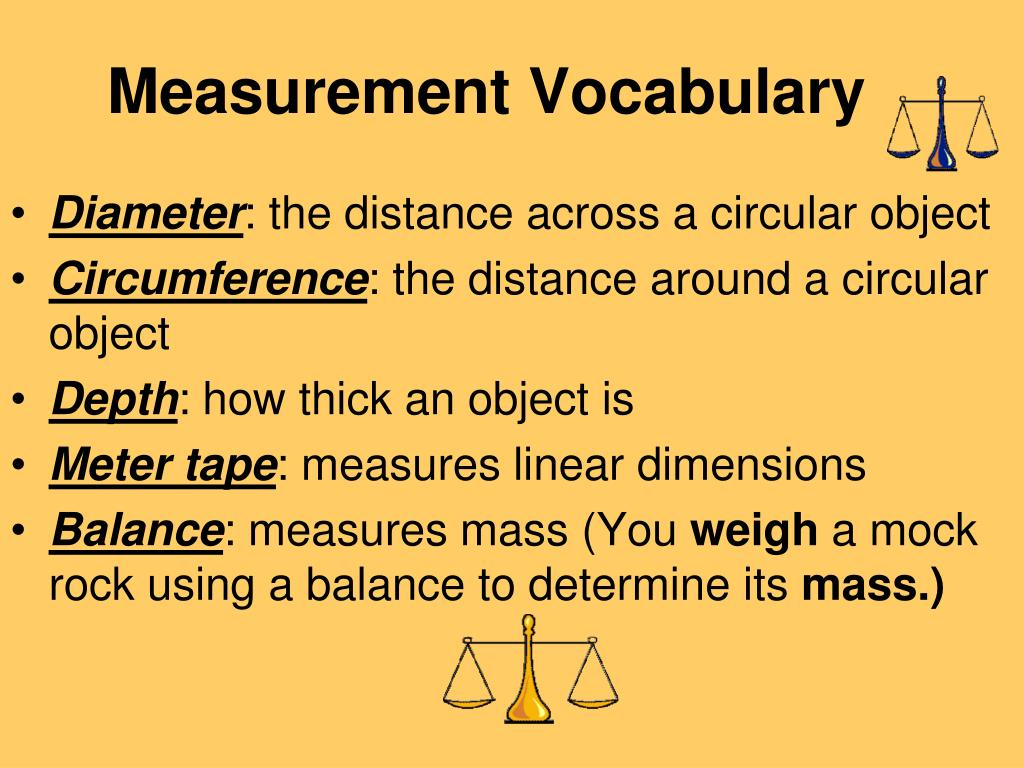 Measurement Vocabulary