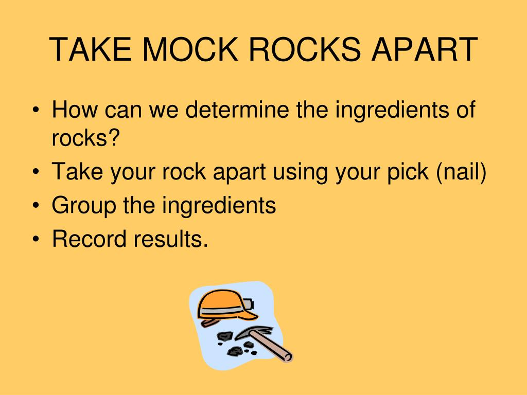 TAKE MOCK ROCKS APART