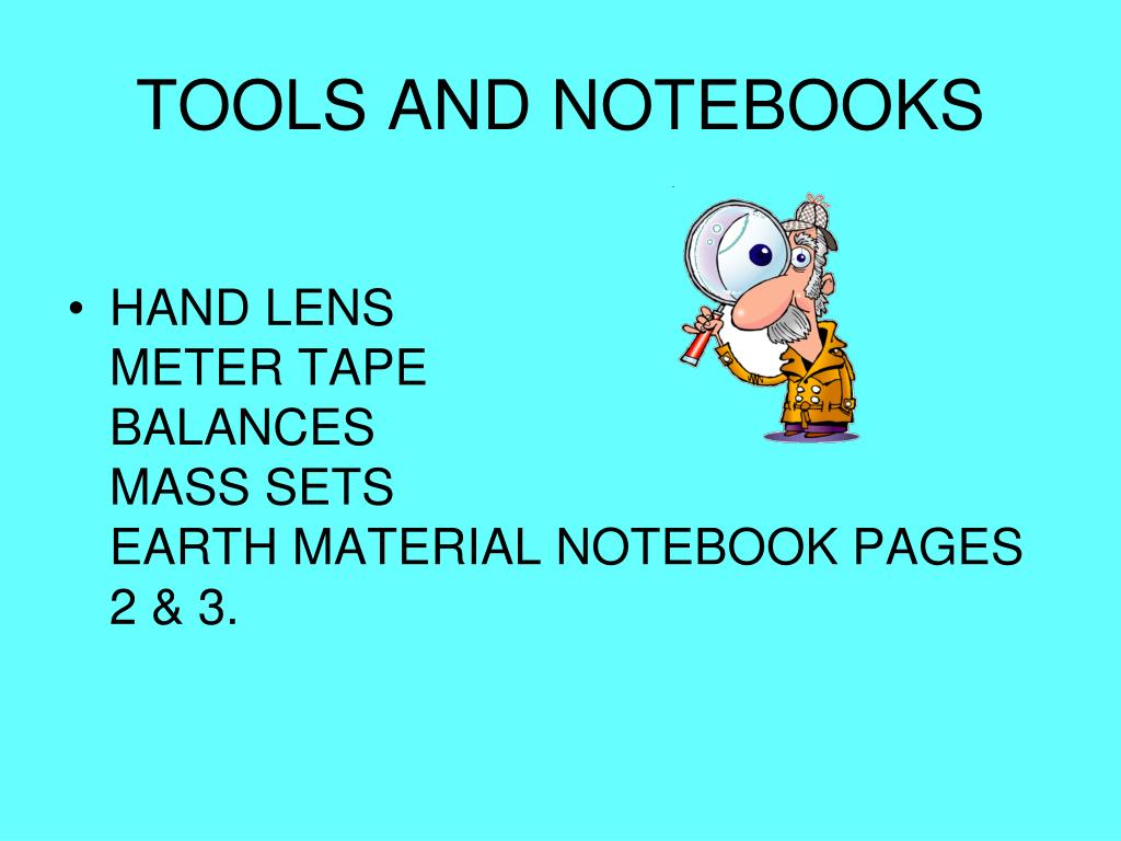 TOOLS AND NOTEBOOKS
