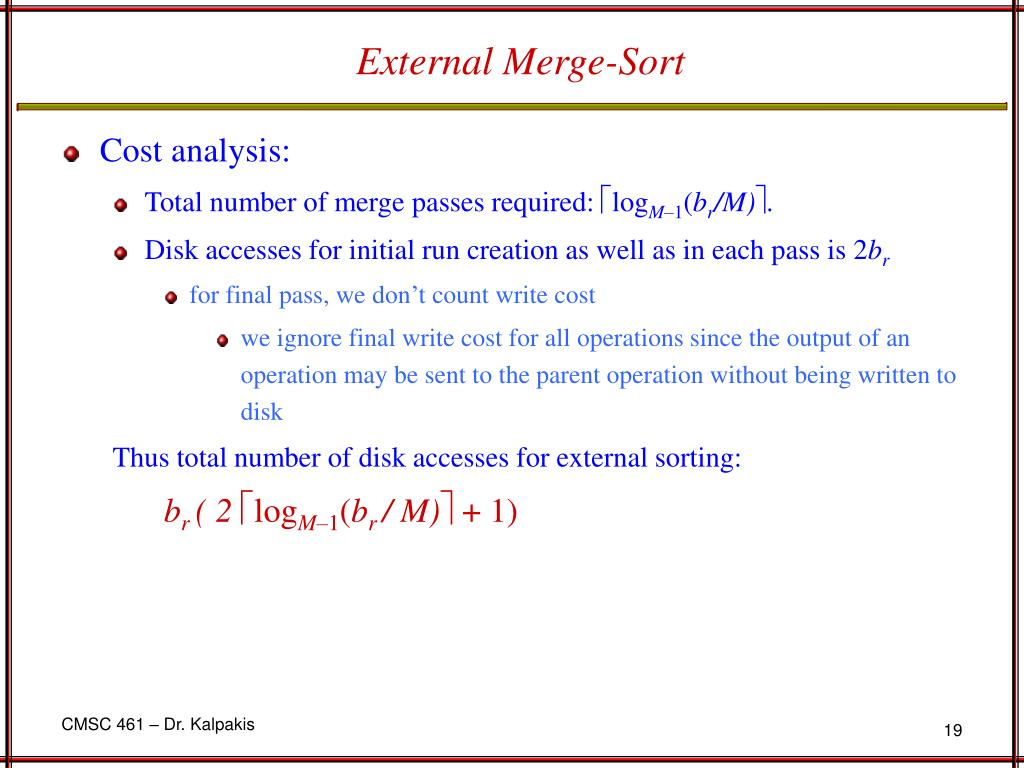 External Merge-Sort