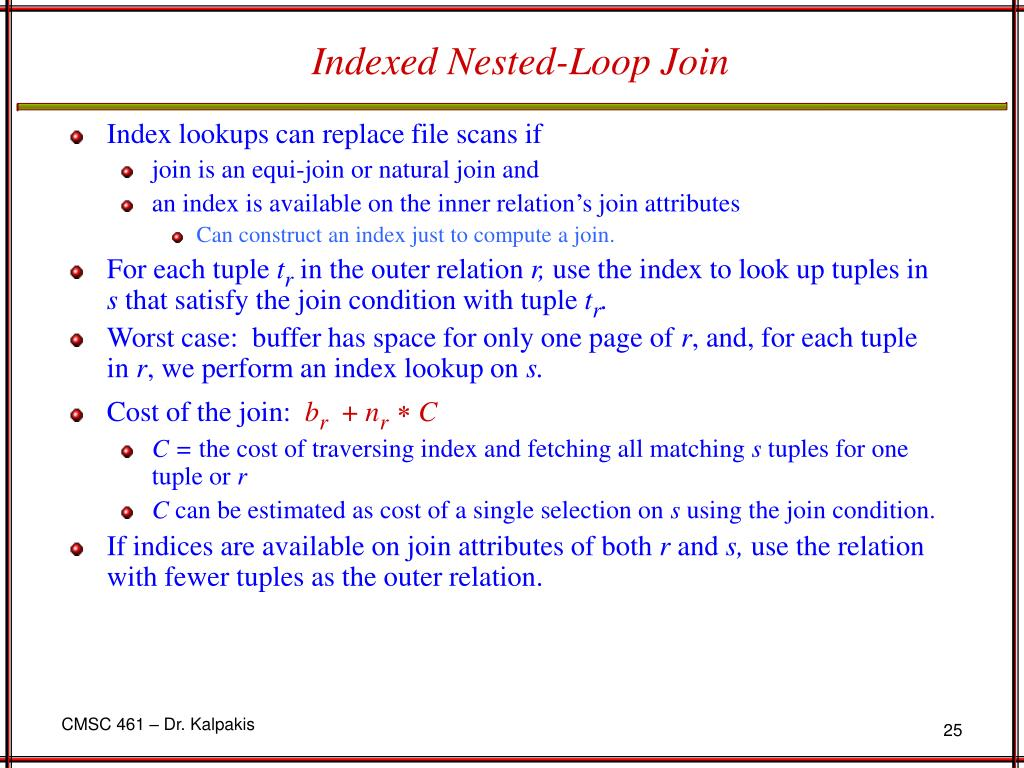 Indexed Nested-Loop Join