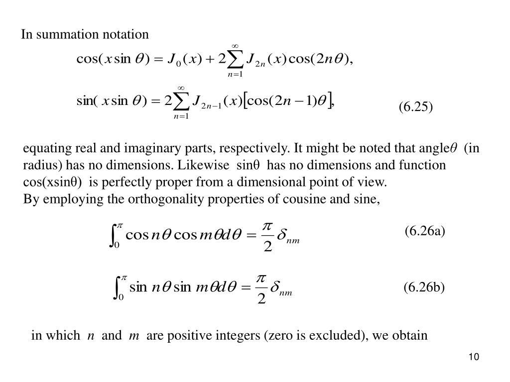 In summation notation