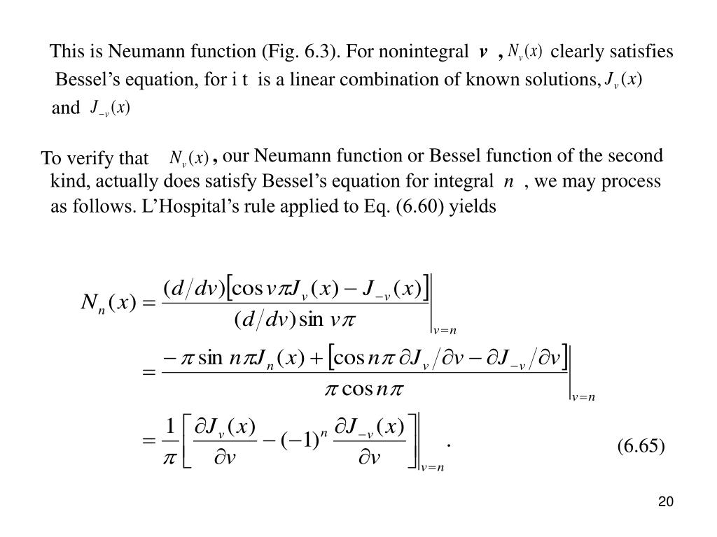 This is Neumann function (Fig. 6.3). For nonintegral