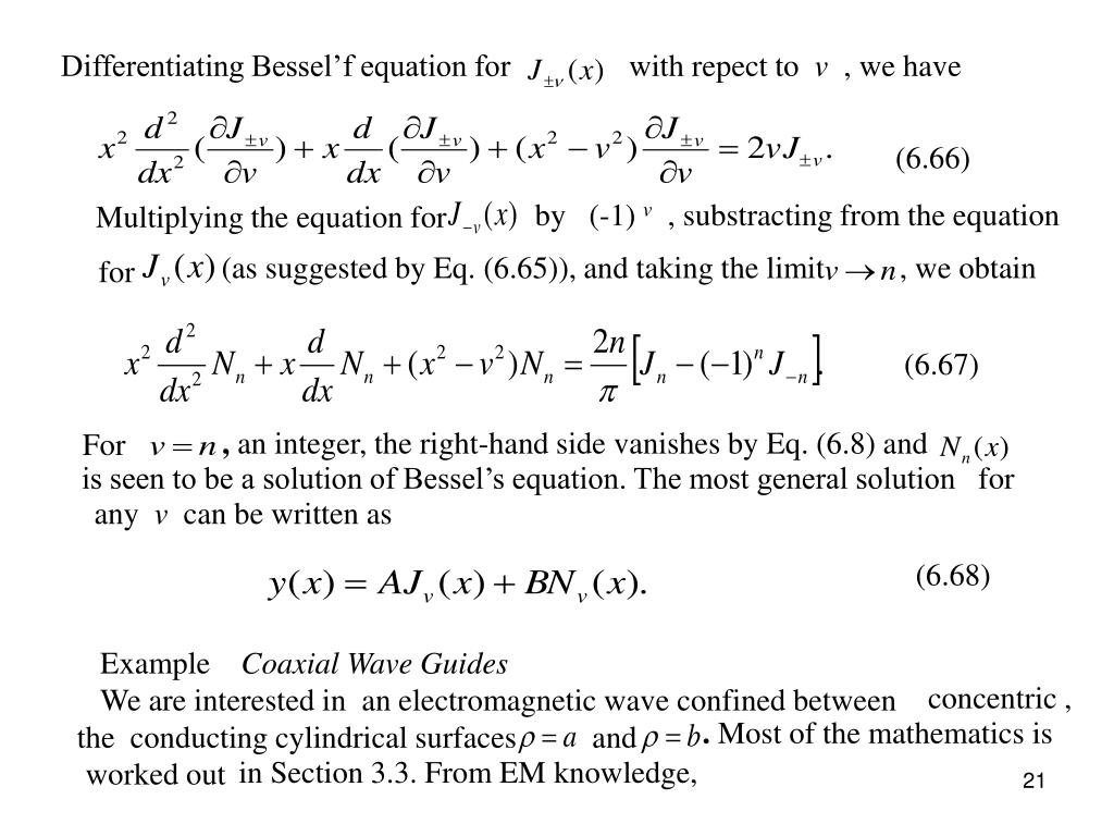 Differentiating Bessel'f equation for