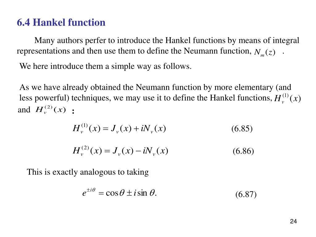 6.4 Hankel function