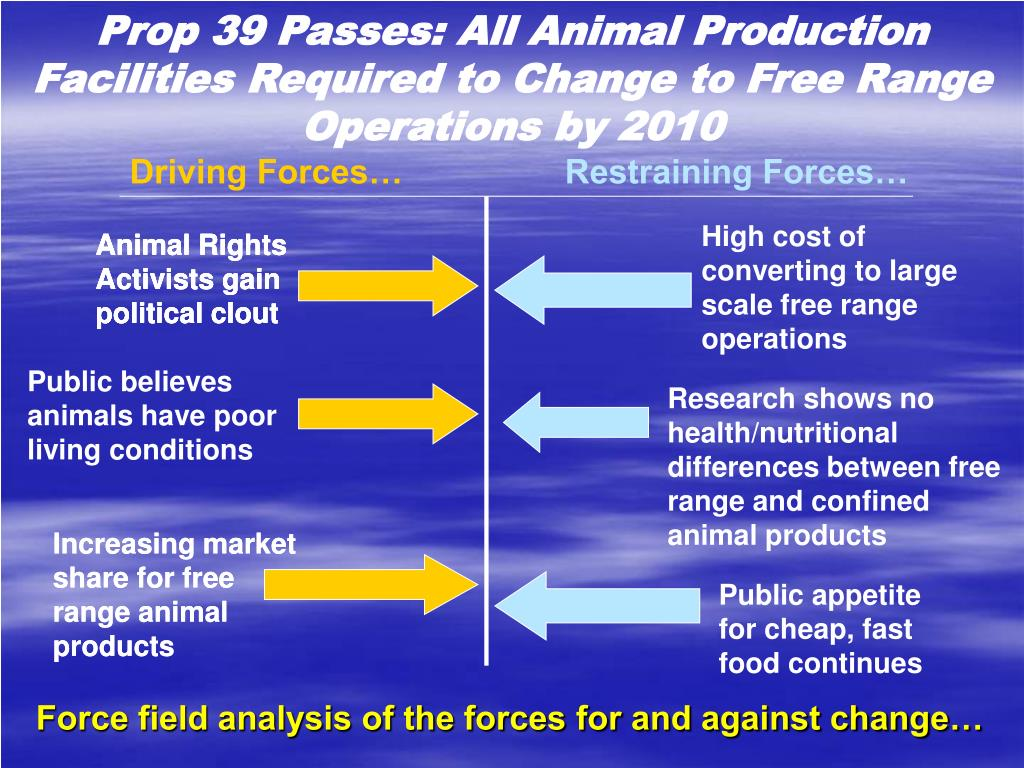 Prop 39 Passes: All Animal Production Facilities Required to Change to Free Range Operations by 2010