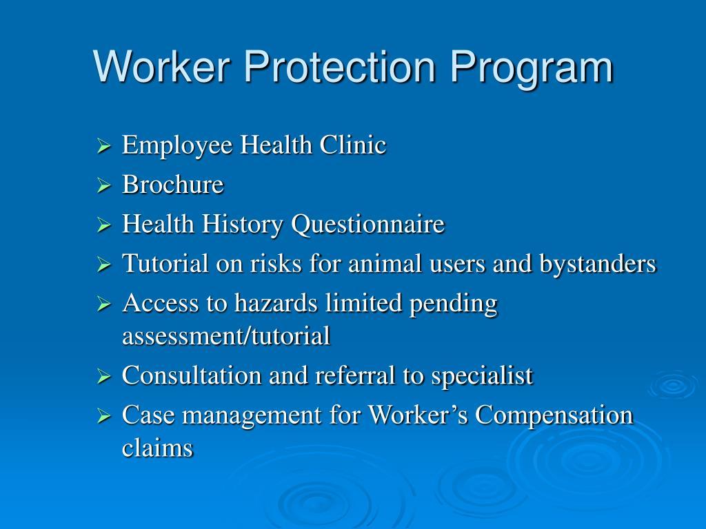Worker Protection Program