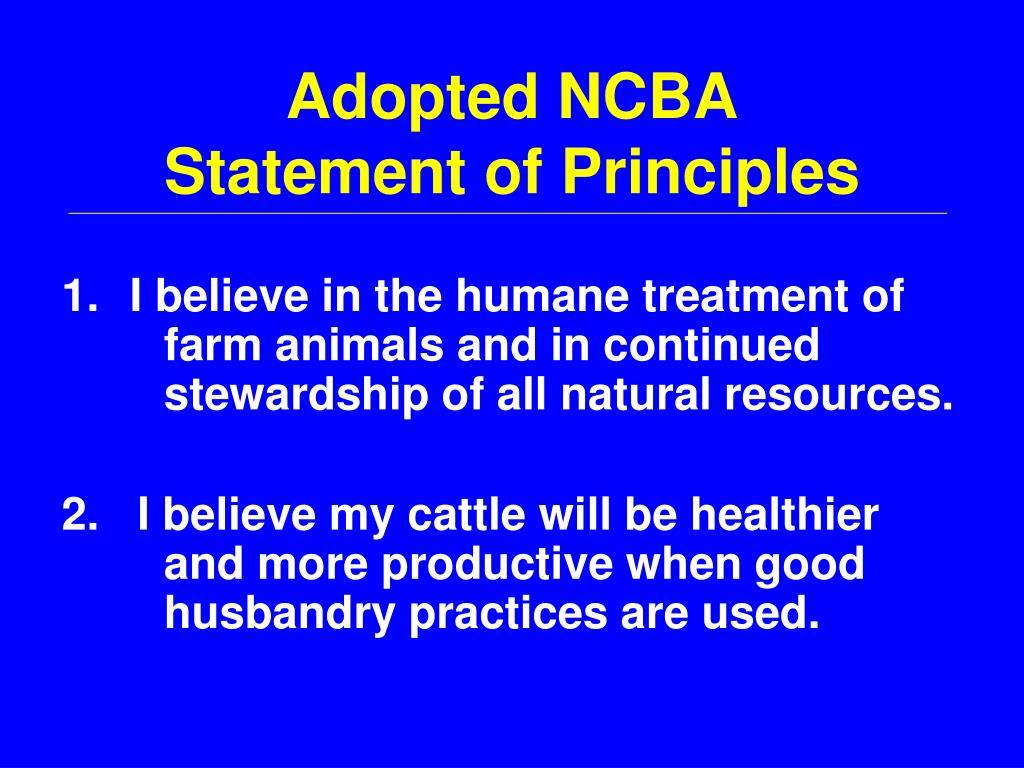 Adopted NCBA