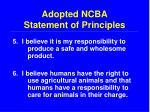 adopted ncba statement of principles15