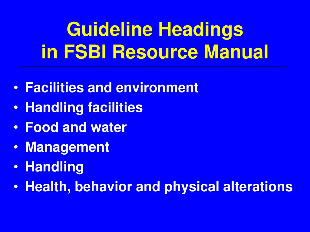 Guideline Headings