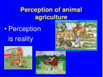perception of animal agriculture
