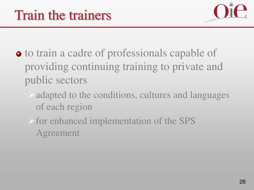 Train the trainers