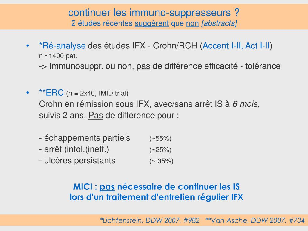 continuer les immuno-suppresseurs ?