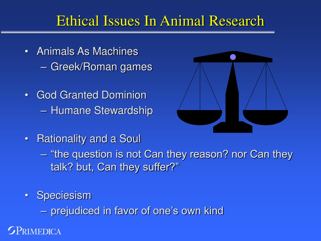 Ethical Issues In Animal Research