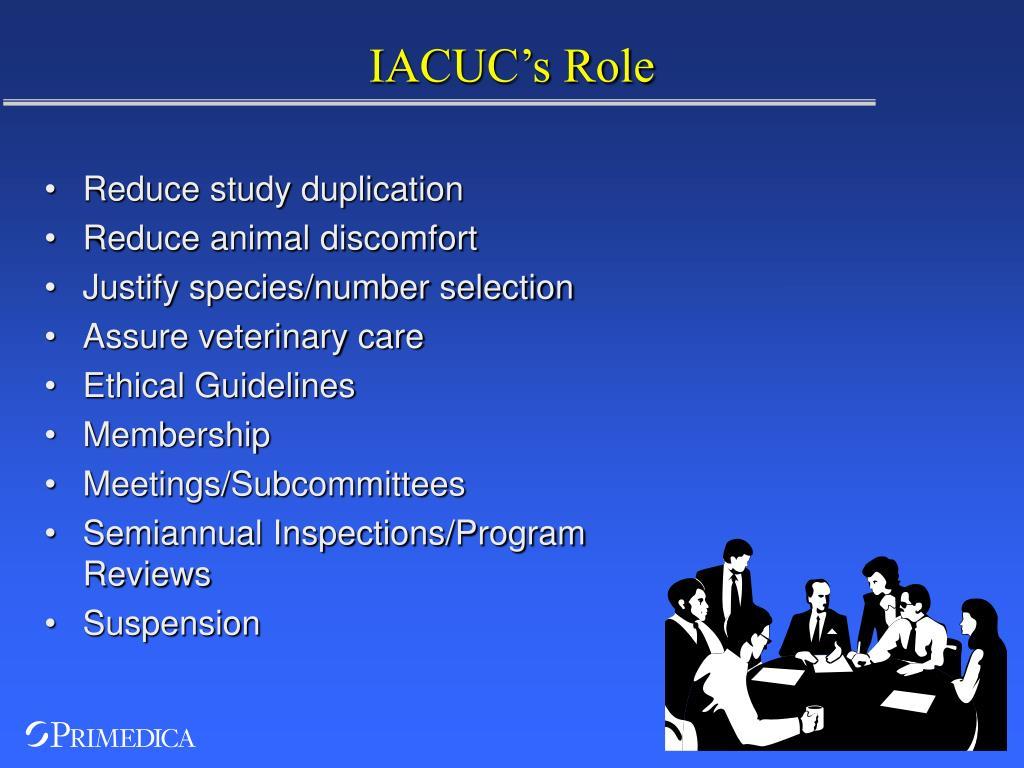 IACUC's Role