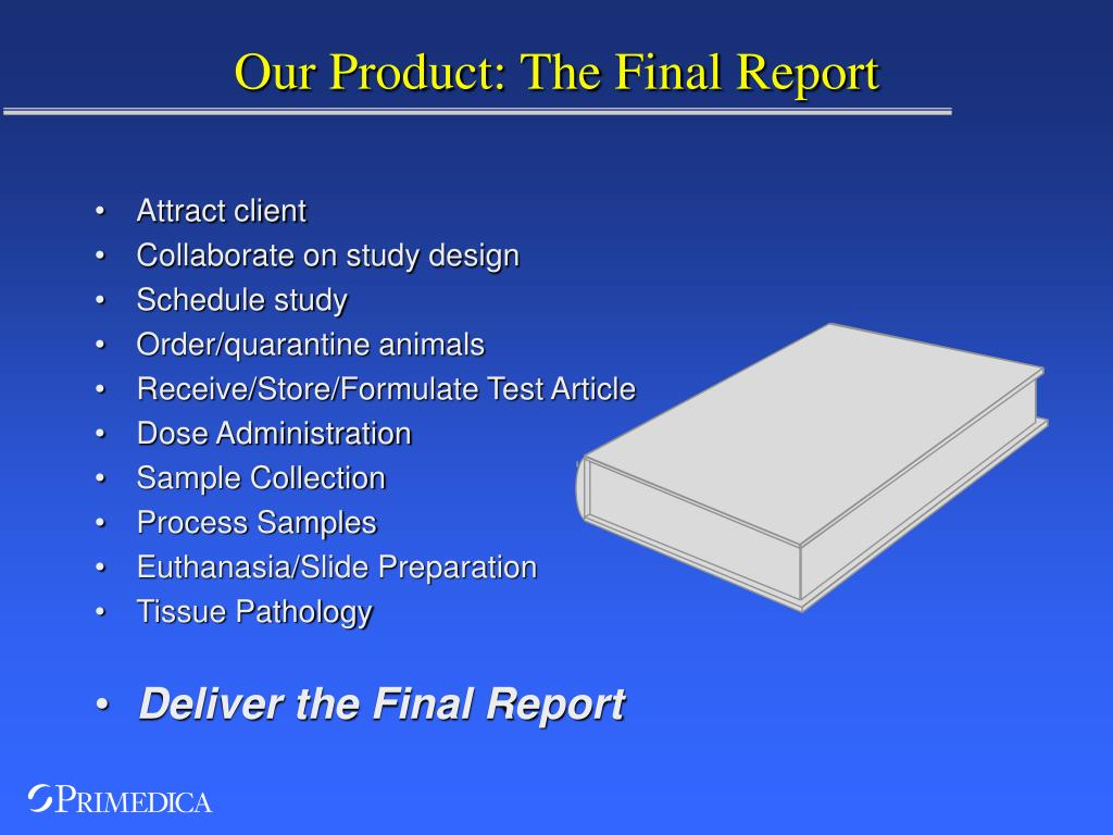 Our Product: The Final Report