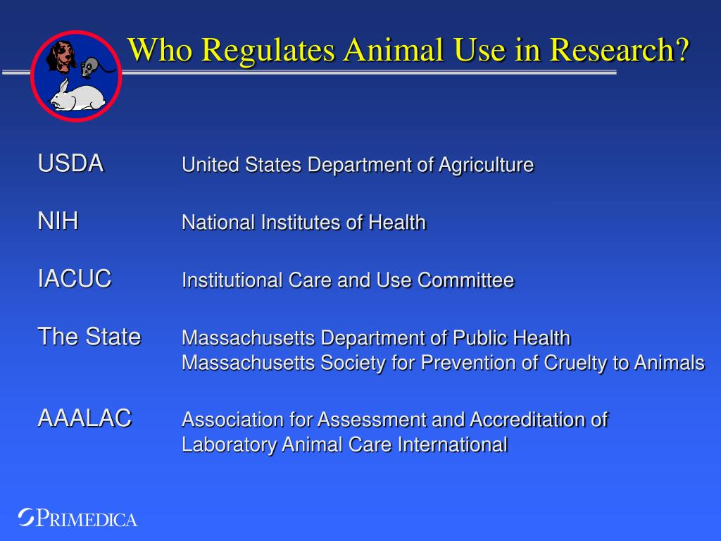 Who Regulates Animal Use in Research?
