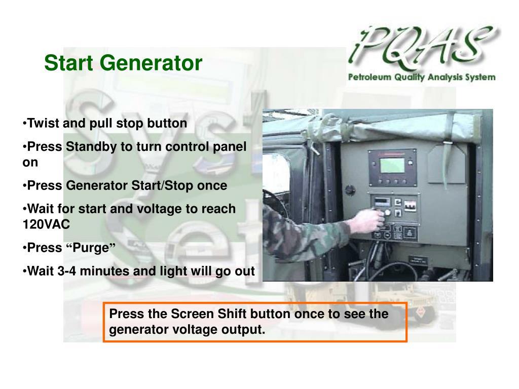Start Generator